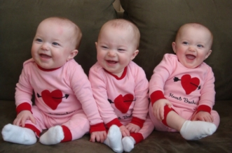 Funny Triplet Babies Laughing Compilation 2014