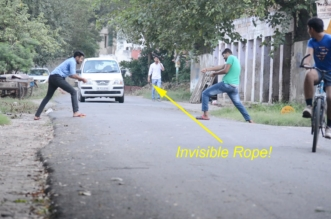 Funny Pranks – Invisible Rope Prank