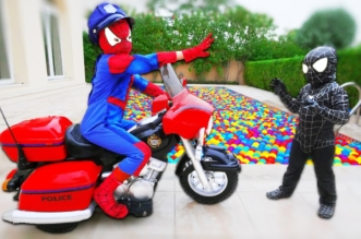 Bad Baby SPIDERMAN Pretend Play w/ Venom Mickey Mouse Colors Children Toys Compilation in Real Life